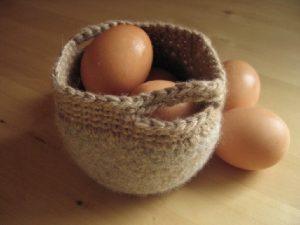 Felted Basket - Beige