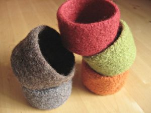 5 Felted Bowls