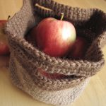 Crochet Tote - Brown