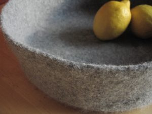 Large Felted Bowl - Gray