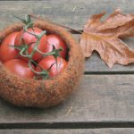 Felted Bowl - Brown