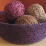 Large Felted Bowl - Purple